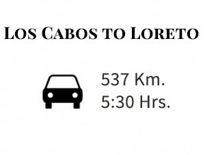 time and distance from los cabos to loreto