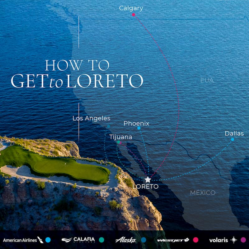 Airlines with directo Flights to Loreto Baja California