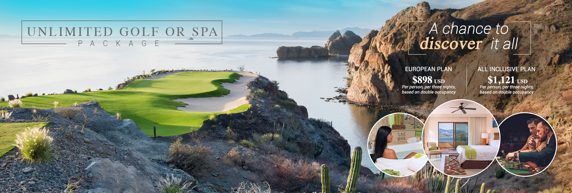 Unlimited Golf or Spa Package TPC Danzante Bay
