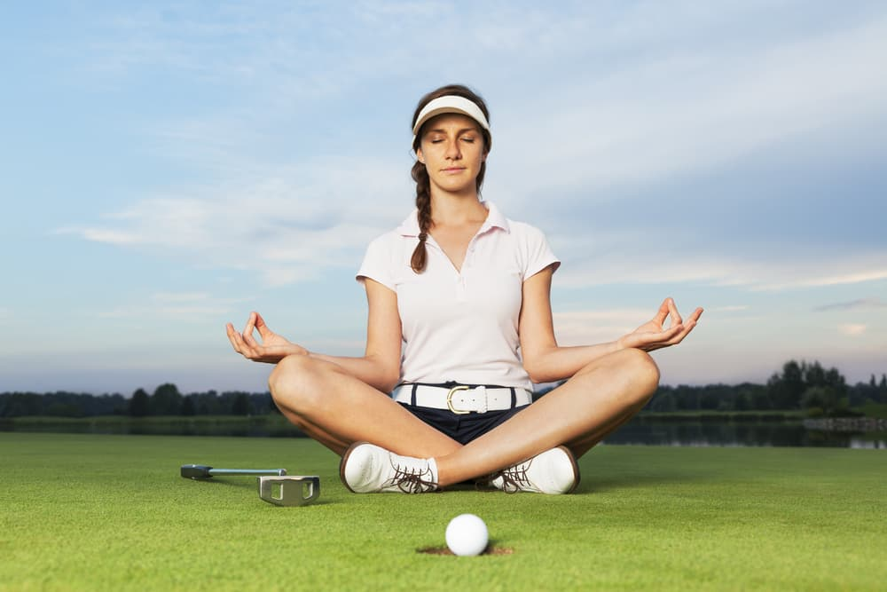 Warming Up To Golf Yoga in Loreto Mexico