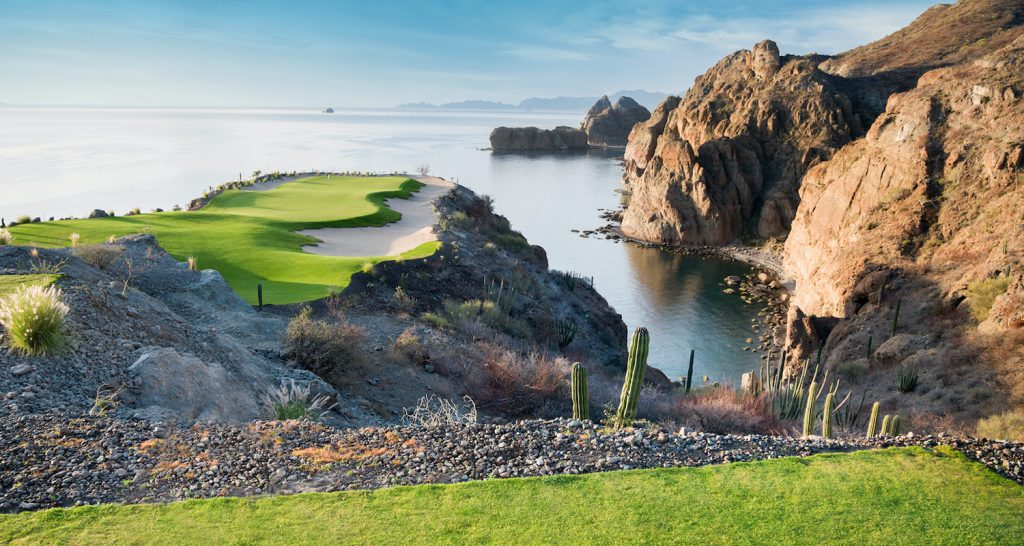 hole 17th at tpc danzante bay at the islands of loreto golf course