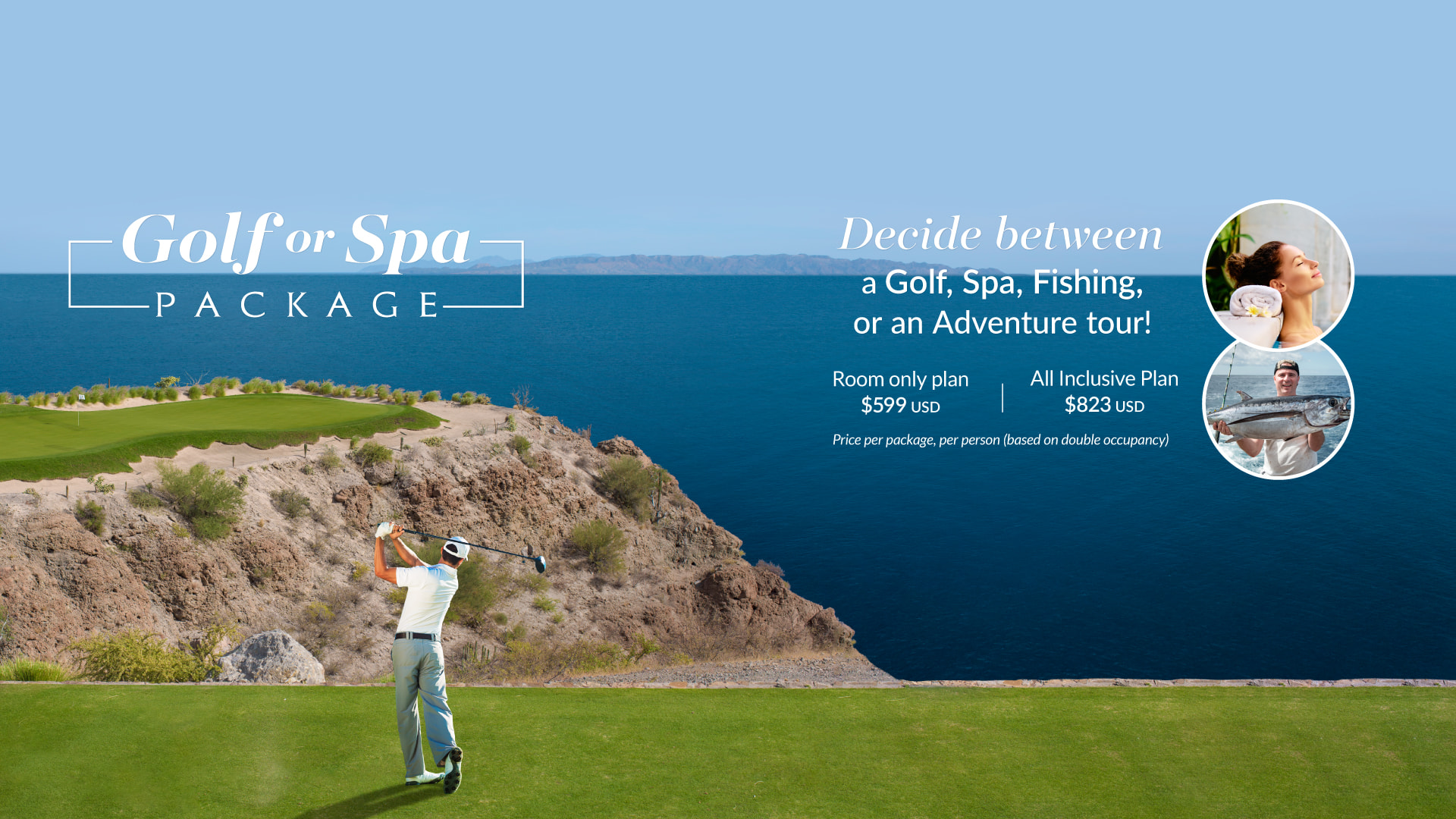 Loreto Mexico Golf or Spa Package