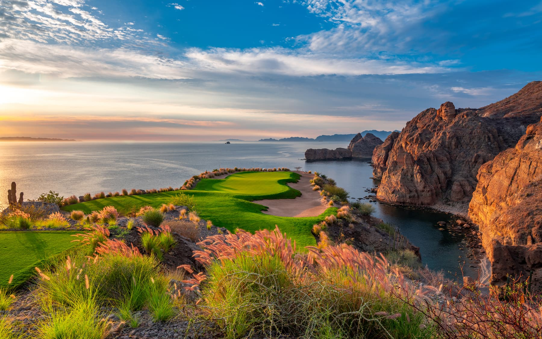 Hole 17 at TPC Danzante Bay Golf Course in Loreto Mexico