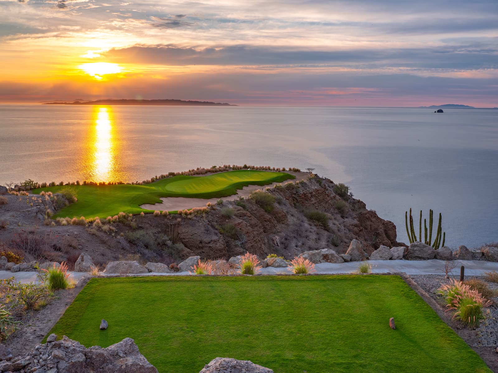 Hole 17 at TPC Danzante Bay Golf Course in Loreto Baja Mexico