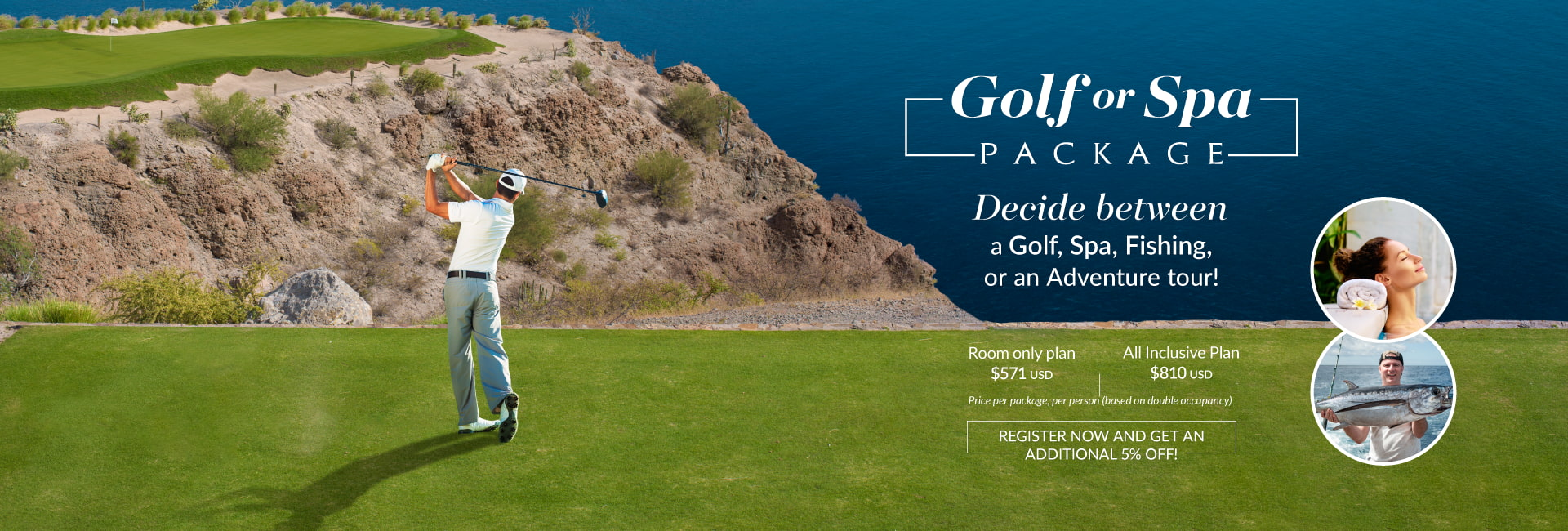 Golf or Spa package at tpc danzante bay