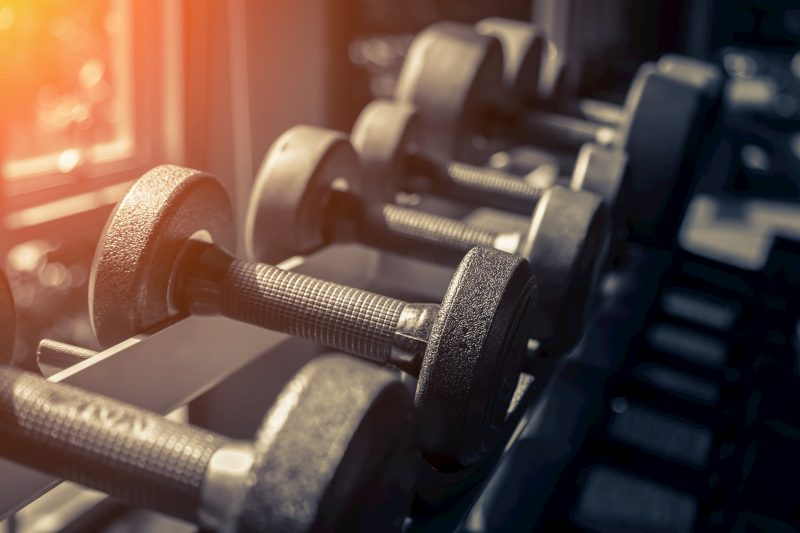Weights help build strength for golfers