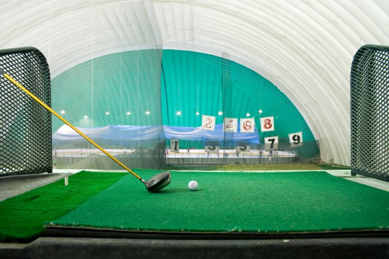 Indoor driving ranges to practice golf in the winter