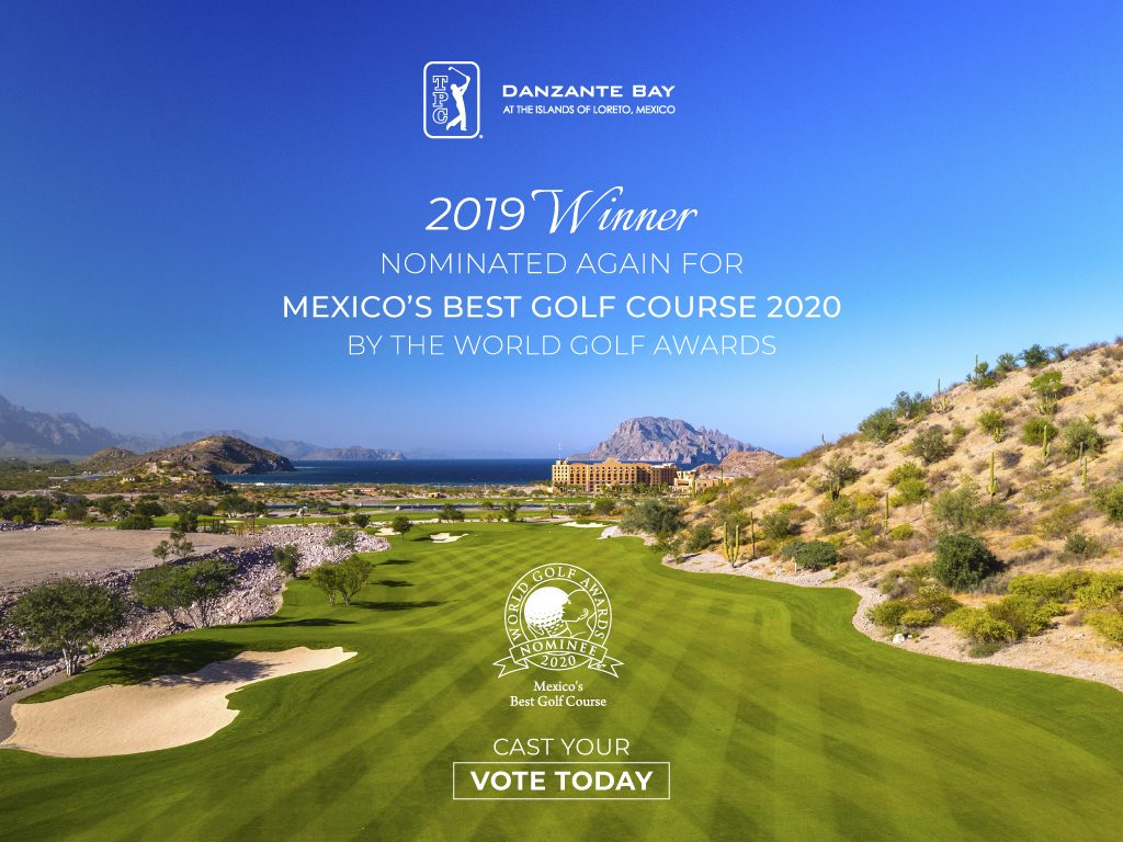 TPC Danzante Bay nominated for Mexico's Best Golf Course 2020 by the World Golf Awards