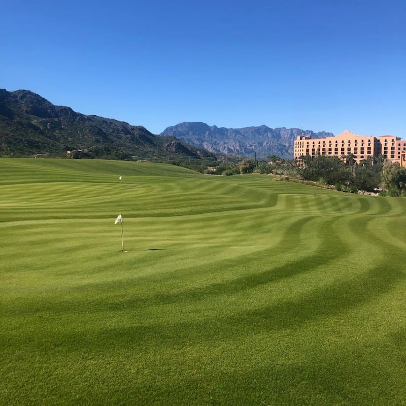TPC Danzante Bay Course with Villa del Palmar at the background