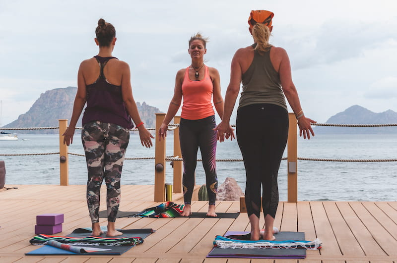 yoga classes at villa del palmar loreto